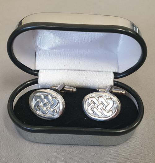 Pewtermill cufflinks, Celtic oval