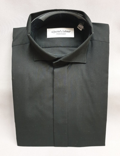 David Latimer black Edwardian shirt