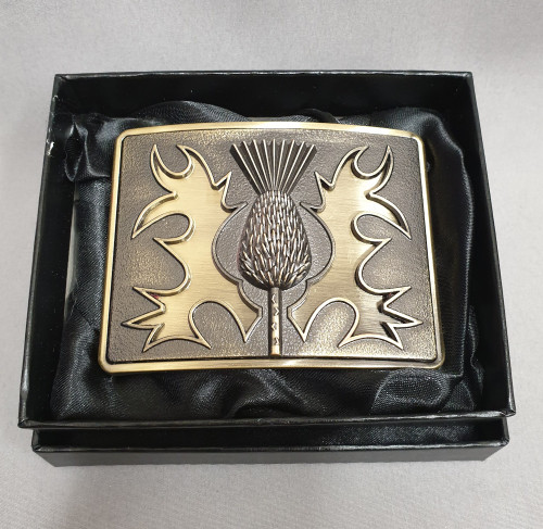 Antique brass belt buckle