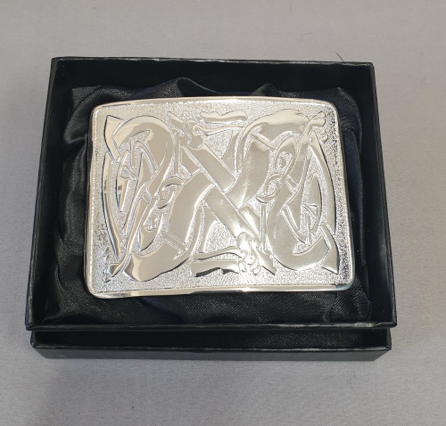Kilt belt buckle - Celtic dogs