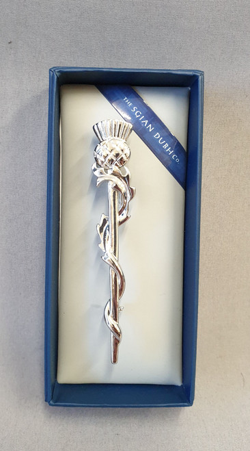 Kilt pin, thistle. Polished finish