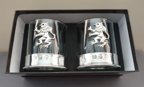 Whisky glass - Lion rampant (pair)