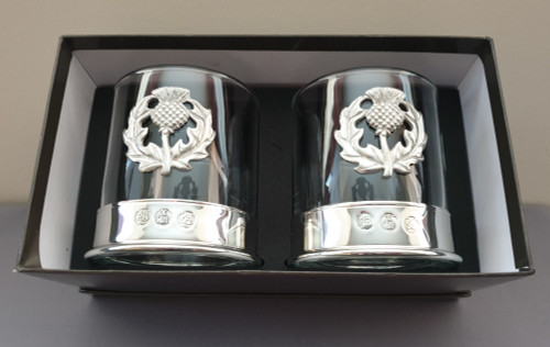 Whisky glass - Thistle (pair)