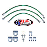 "1984-1989 Jeep Cherokee, Sportwagon, Wagoneer, Mid Size XJ Series 0""-2"" Lift - Stainless Steel Brake Line Kit"