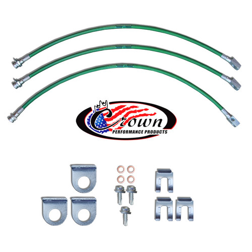 "Jeep CJ5, CJ7 Disc Brakes 1976-1981 0""-2"" Lift - Stainless Steel Brake Line Kit"