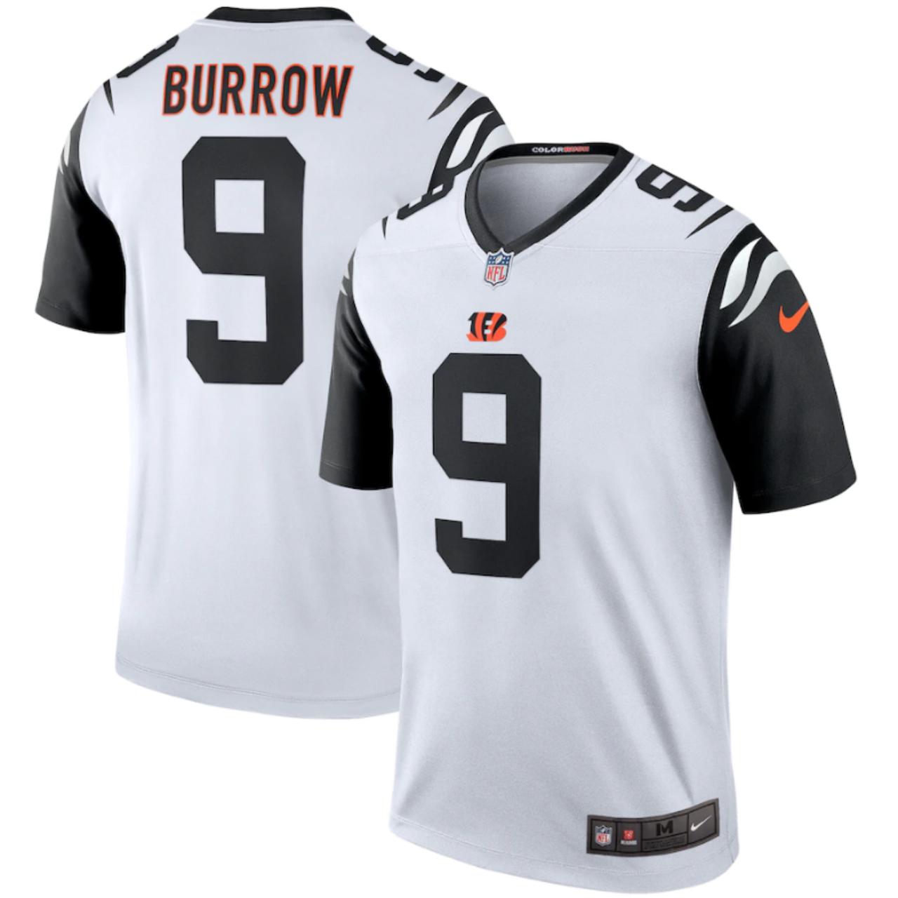 Joe Burrow Cincinnati Bengals Nike White Color Rush 2nd Alternate Legend Jersey