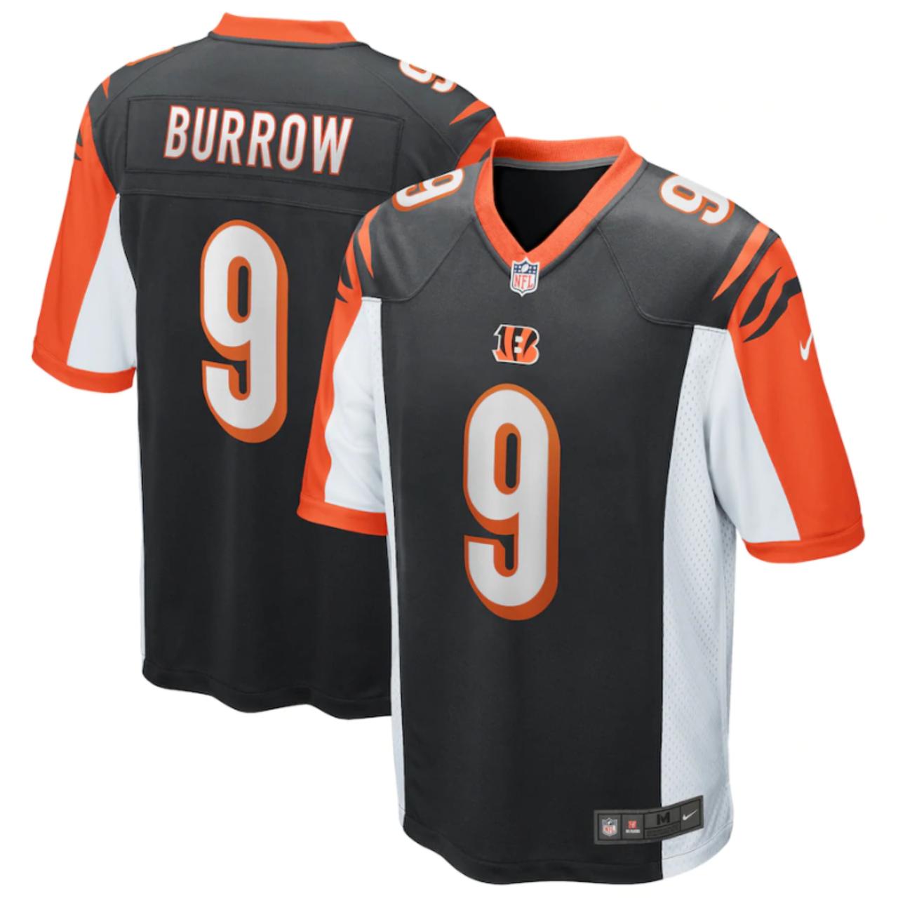 Joe Burrow Youth Cincinnati Bengals Nike 2020 NFL Draft First Round Pick Game Jersey - Black