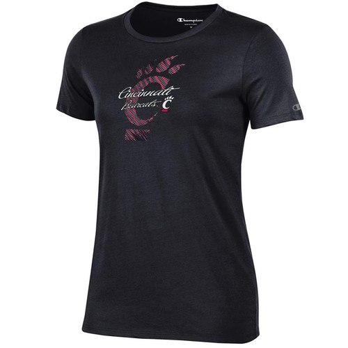 Cincinnati Bearcats Champion Women's Black University T-Shirt