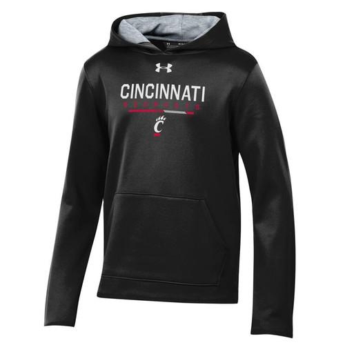 Cincinnati Bearcats Youth Under Armour Black Armour Fleece Hooded Sweatshirt