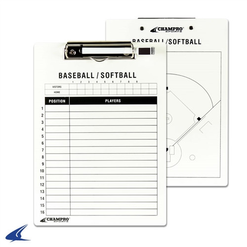 "Champro 9""X12"" Baseball/Softball Coach's Board"