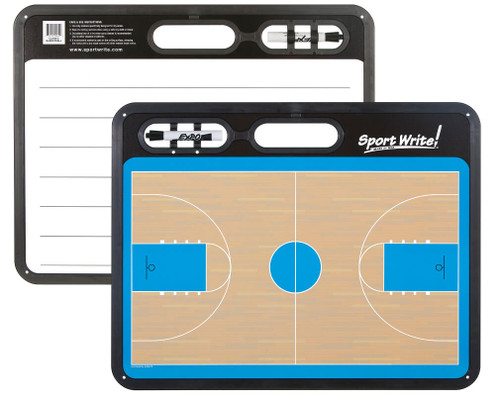 Sport Write Dry-Erase Classic Basketball Coaches Board