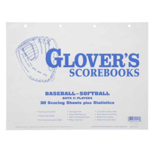 Glovers Baseball/Softball Scorebook Refill Sheets