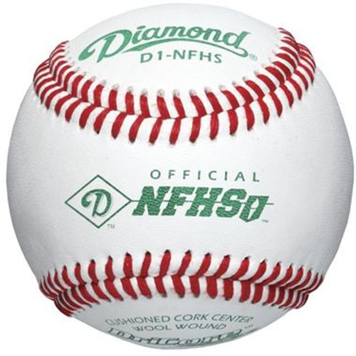 Diamond D1-NFHS Official NFHS Baseballs (Dozen)