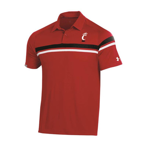 Cincinnati Bearcats Under Armour Red Sideline Tour Drive Polo