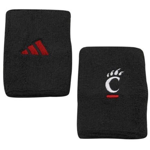 Cincinnati Bearcats Adidas Black Wristbands