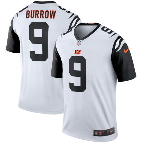Joe Burrow Cincinnati Bengals Nike White Color Rush 2nd Alternate Legend Jersey