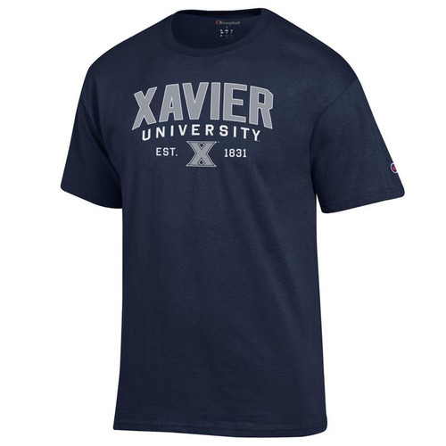 Xavier Musketeers Champion Arched University Logo Navy T-Shirt