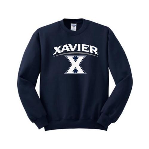 Xavier Musketeers Navy Crewneck Sweatshirt
