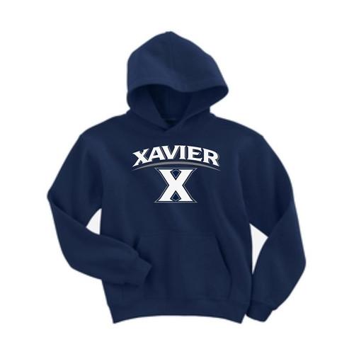 Xavier Musketeers Youth Navy Hooded Sweatshirt