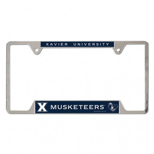 Xavier Musketeers Chrome License Plate Frame