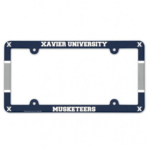 Xavier Musketeers Plastic License Plate Frame