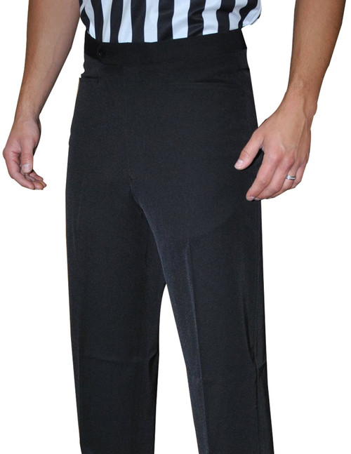 Smitty Black Pleated Basketball Referee Pants