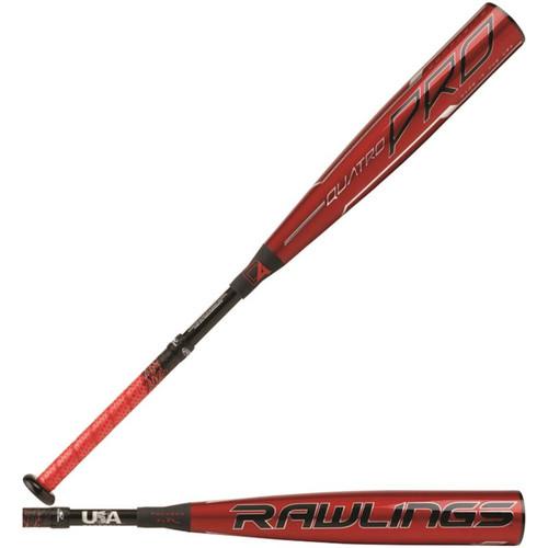 "Rawlings 2020 Quatro Pro USA 2 5/8"" Baseball Bat (-8)"