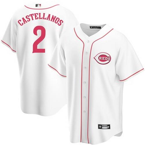 Men's Cincinnati Reds Nick Castellanos White Home 2021 Replica Player Jersey