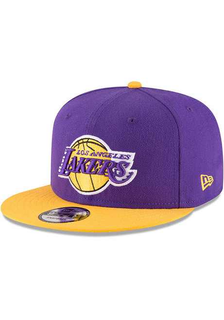 New Era Los Angeles Lakers 2-Tone Stock Original 9FIFTY Snapback Hat