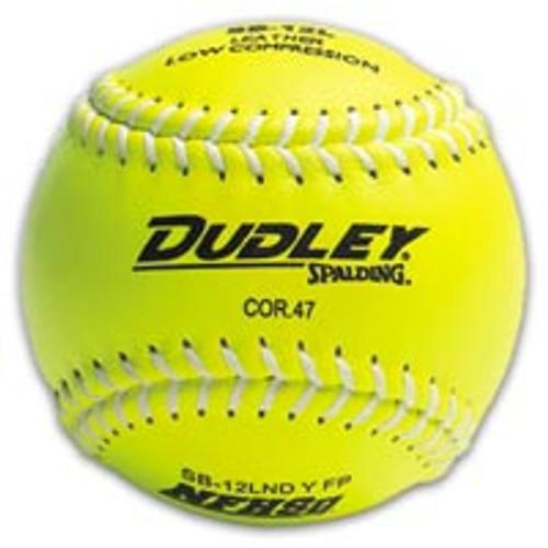"Dudley OHSAA 12"" Yellow Softball (Dozen)"
