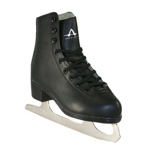 American Athletic Shoe Co. Boys Tricot Lined Figure Skates Black