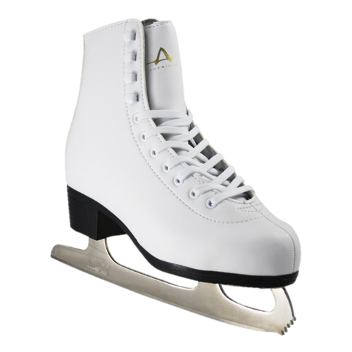 American Athletic Shoe Co. Ladies Leather Lined Figure Skates White