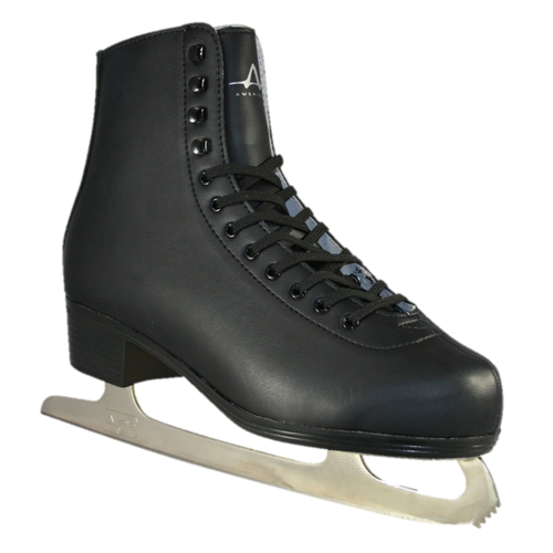 American Athletic Shoe Co. Mens Leather Lined Figure Skates Black