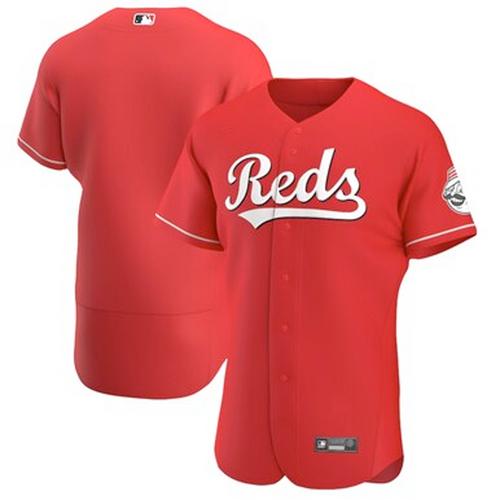 Men's Cincinnati Reds Scarlet Alternate 2021 Authentic Team Jersey