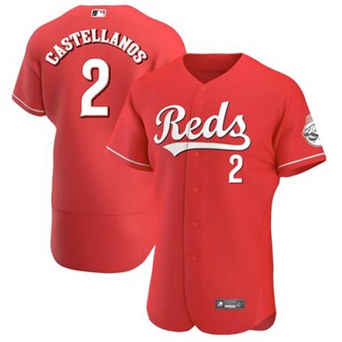 Men's Cincinnati Reds Nick Castellanos Scarlet Alternate 2020 Authentic Player Jersey