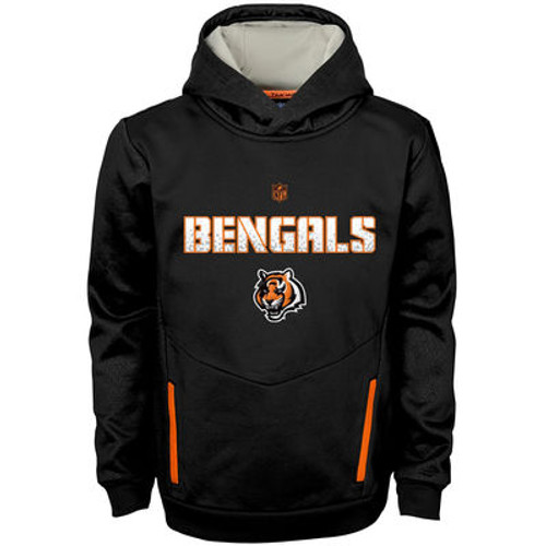 Cincinnati Bengals Youth Black Shadow Pullover Hoodie