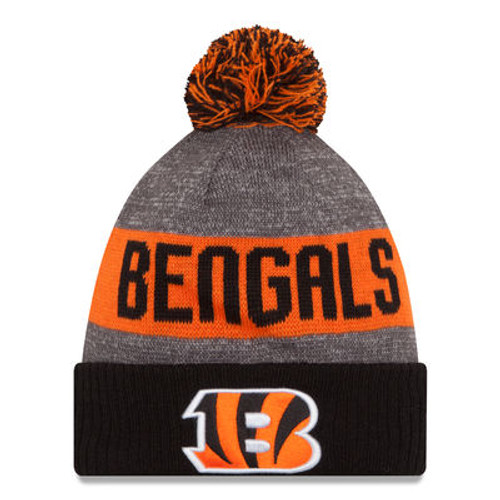 Cincinnati Bengals Youth New Era Heather Gray 2016 Sideline Official Sport Knit Hat