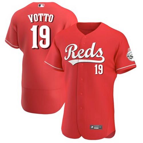 Men's Cincinnati Reds Joey Votto Scarlet Alternate 2021 Authentic Player Jersey