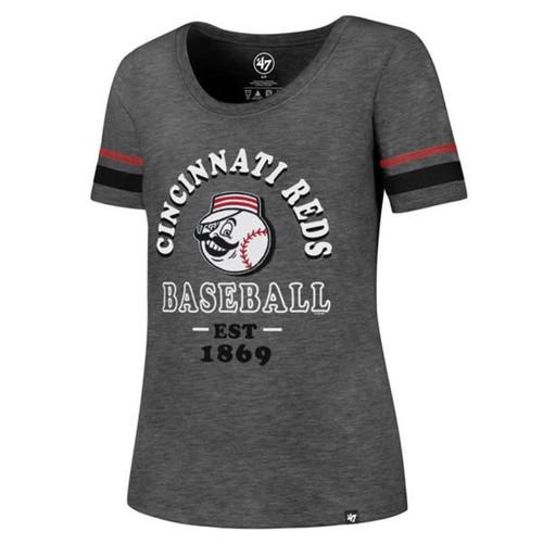 Cincinnati Reds Ladies 47 Brand Fantasy Scoop Tee