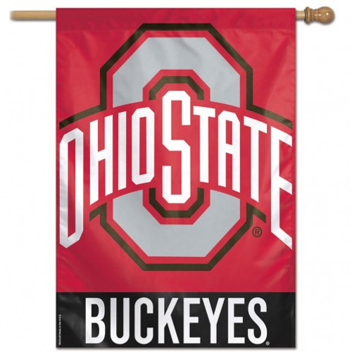 Ohio State Vertical Flag