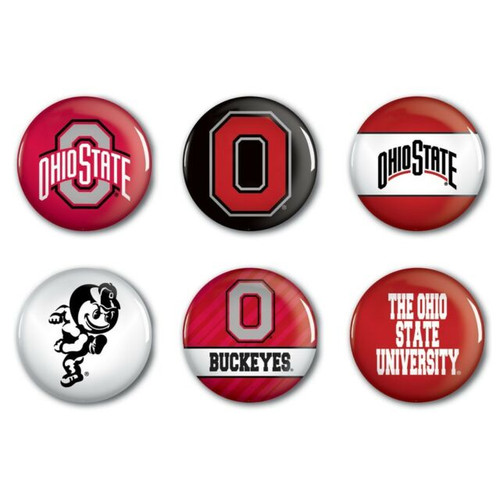 Ohio State Buckeyes Button 6 Pack