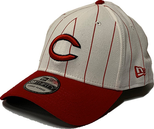 Cincinnati Reds New Era White 1961 150th Anniversary Turn Back the Clock 39Thirty Flex-Fit Hat