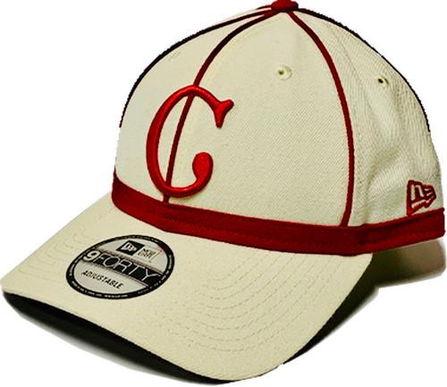 Cincinnati Reds New Era Cream 1902 150th Anniversary Turn Back the Clock 9Forty Adjustable Hat