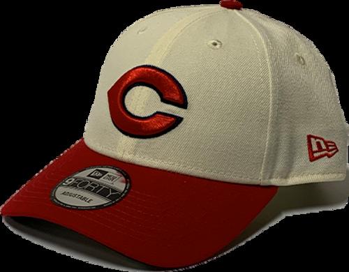 Cincinnati Reds New Era White 1936 150th Anniversary Turn Back the Clock 9Forty Adjustable Hat