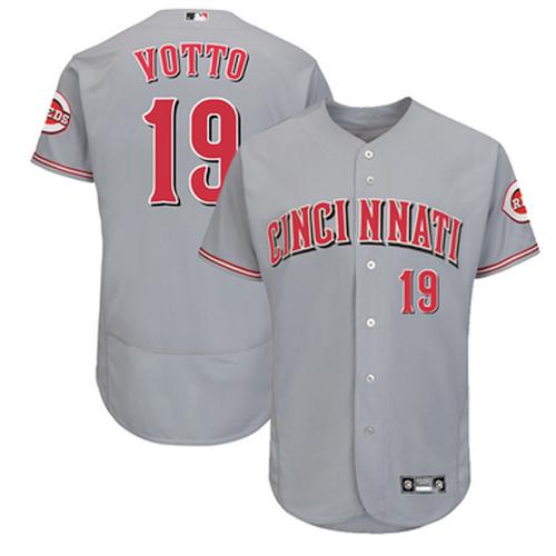 Men's Cincinnati Reds Joey Votto Grey Alternate 2021 Authentic Player Jersey