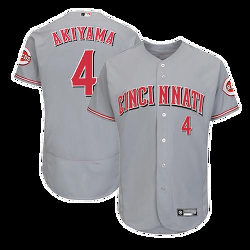 Men's Cincinnati Reds Shogo Akiyama Grey Alternate 2021 Authentic Player Jersey