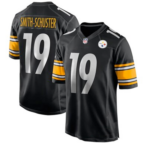 Men's Pittsburgh Steelers Juju Smith-Schuster Black Game Player Jersey