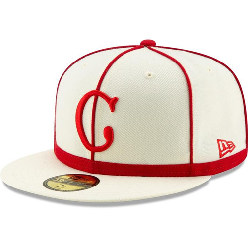 Cincinnati Reds New Era Cream 1902 150th Anniversary Turn Back the Clock 59FIFTY Fitted Hat