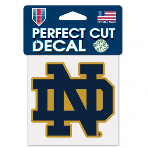 "Notre Dame Fighting Irish 4""x4"" Perfect Cut Decal"