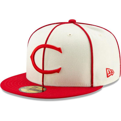 Cincinnati Reds New Era Cream/Red 1912 150th Anniversary Turn Back the Clock 59FIFTY Fitted Hat